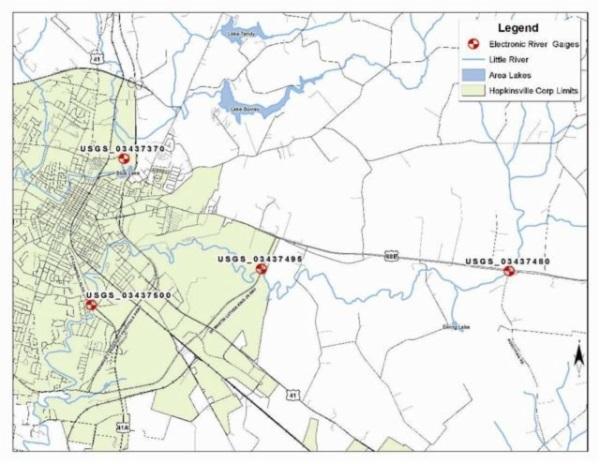 river gauges map